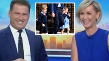 Karl Stefanovic calls Prince George and Princess Charlotte 'aliens'
