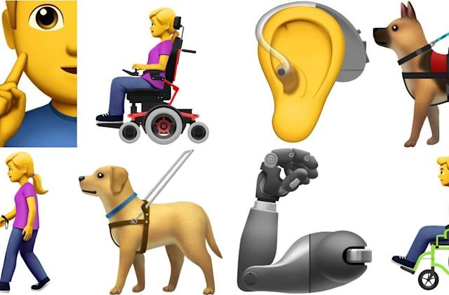 Apple proposes 13 emojis representing those with disabilities