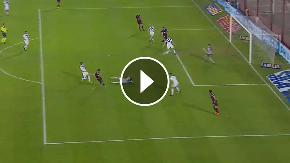 VIDEO: ¡Con el sello de Lanús! Golazo de Silva contra Vélez
