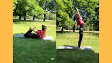 International Yoga Day: Kangana Ranaut Practises Asanas In London