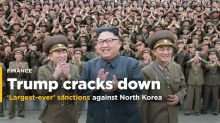 """Trump says launching """"largest-ever"""" set of sanctions against North Korea"""