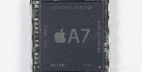 Chipworks analysis of iPhone 5s A7 and M7 chips highlights Apple's design evolution
