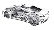 Acura NSX cutaway sketch is a stunning piece of automotive art