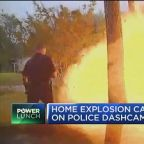 Home explosion caught on police dash cam
