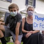 Dr. Fauci's Neighbors Put Up 'Thank You' Signs In Their Yards To Show Appreciation For His Work