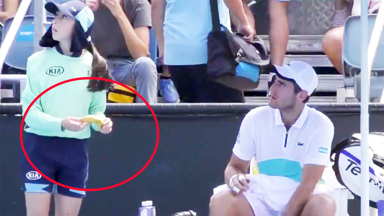 'Nasty piece of work': Australian Open player told off over weird ball girl request