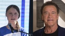 Arnold Schwarzenegger enjoys bike ride with 'friend and hero' Greta Thunberg