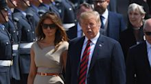 Melania Trump follows Meghan Markle's lead in boatneck Roland Mouret dress