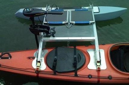 Solar-powered kayak attachment nixes need for paddling