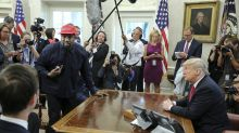 Kanye West plugs Adidas ties during rambling Oval Office meeting with Trump