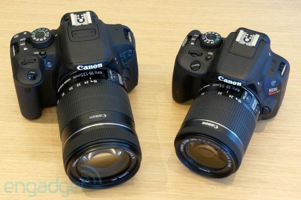 Canon unveils EOS T5i and Rebel SL1, the world's smallest DSLR (hands-on)