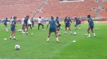 Seleção feminina faz último treino antes da estreia com a Argentina