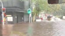 'It's a Car Wash': Streets Flood Following Storms in Newcastle, New South Wales