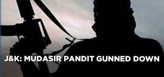 Wanted LeT commander Mudasir Pandit killed in an encounter by Chief Vijay Kumar in Baramulla,Kashmir