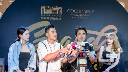 Taiwanese stars Jacky Wu, Candy Chen in Singapore