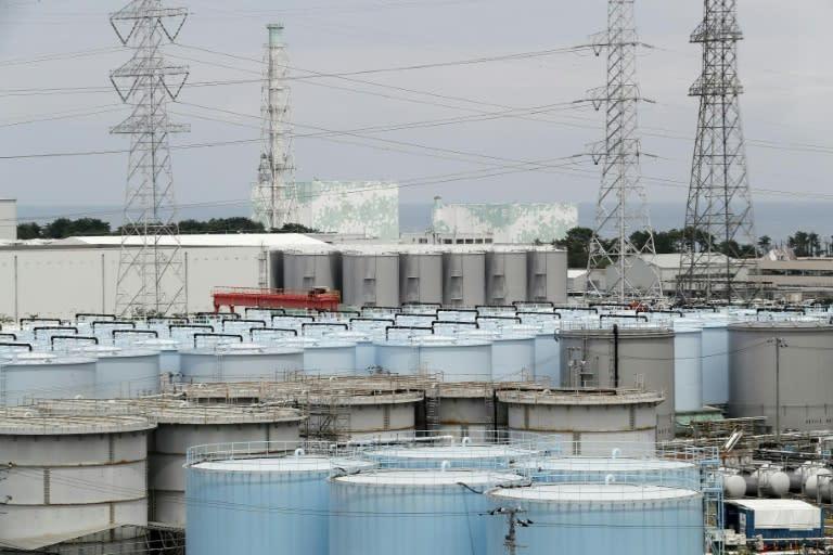Storage tanks holding radioactive water at Japan's crippled Fukushima power plant