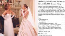 Bride places brutal ad for stranger to 'supervise' crazy mother-in-law