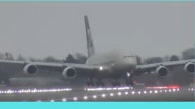WATCH: Passenger Plane Etihad Airbus A380 Lands Sideways in London, Heart-stopping Clip Goes Viral
