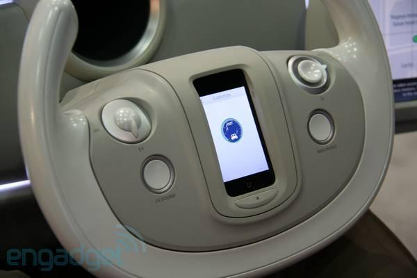 Denso dash with iPhone steering wheel knows when you are sleeping, knows when you're awake (video)