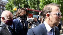 En juicio por calumnias, Depp responde a denuncias de Heard