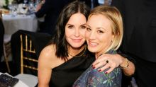 Courteney Cox Extends Support to Kaley Cuoco as She Cries at Final   Big Bang Theory Table Reading