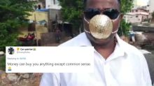 Pune Man Gets Gold Mask for Rs 2.89 Lakhs, Leaves Internet Wondering About His 'Common Sense'