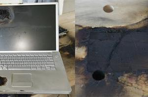Another PowerBook violently explodes
