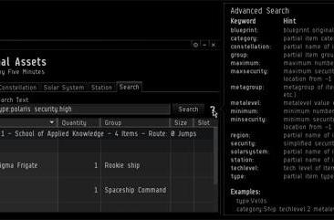 EVE's Phoebe adding better search functionality and more