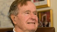 Former President George H.W. Bush watched inaugural from hospital room