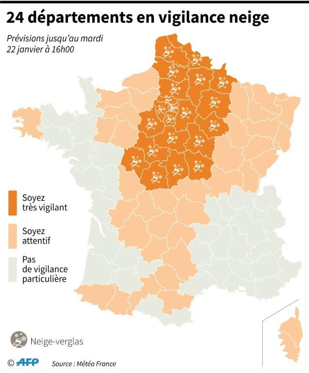 Meteo Paris Yahoo : 24 d partements en vigilance orange neige sept activent le plan grand froid ~ Medecine-chirurgie-esthetiques.com Avis de Voitures