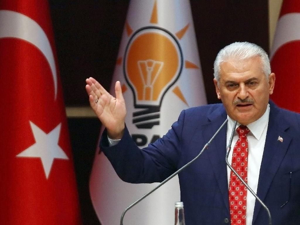 """Turkish Prime Minister Binali Yildirim accused the German parliament of """"signing up to a lie"""" (AFP Photo/Adem Altan)"""