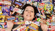 Mum shows off limited edition snack collection, including 37-year-old Marathon bar