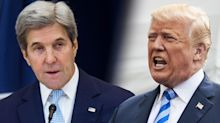 Trump spars with Kerry over 'possibly illegal' talks on Iran deal