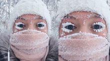 Non, ça n'est pas du maquillage : ces cils sont vraiment gelés