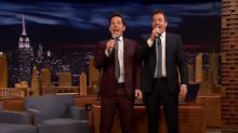 Jimmy Fallon squeezes entire 'Tonight Show' into five minutes