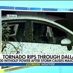 Powerful tornado rips through Dallas leaving over 100,000 without power