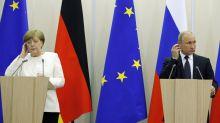 Putin attends Austria wedding, to meet Merkel for gas talks