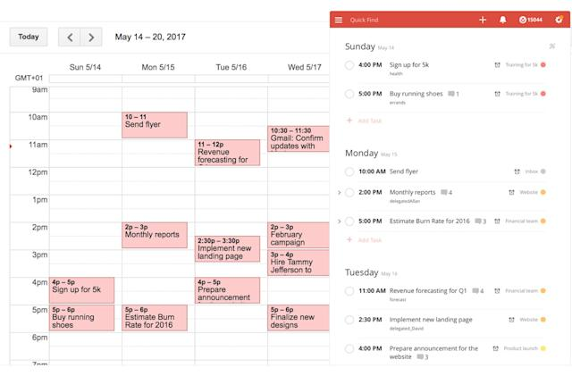 Todoist syncs instantly with Google Calendar to keep you on schedule