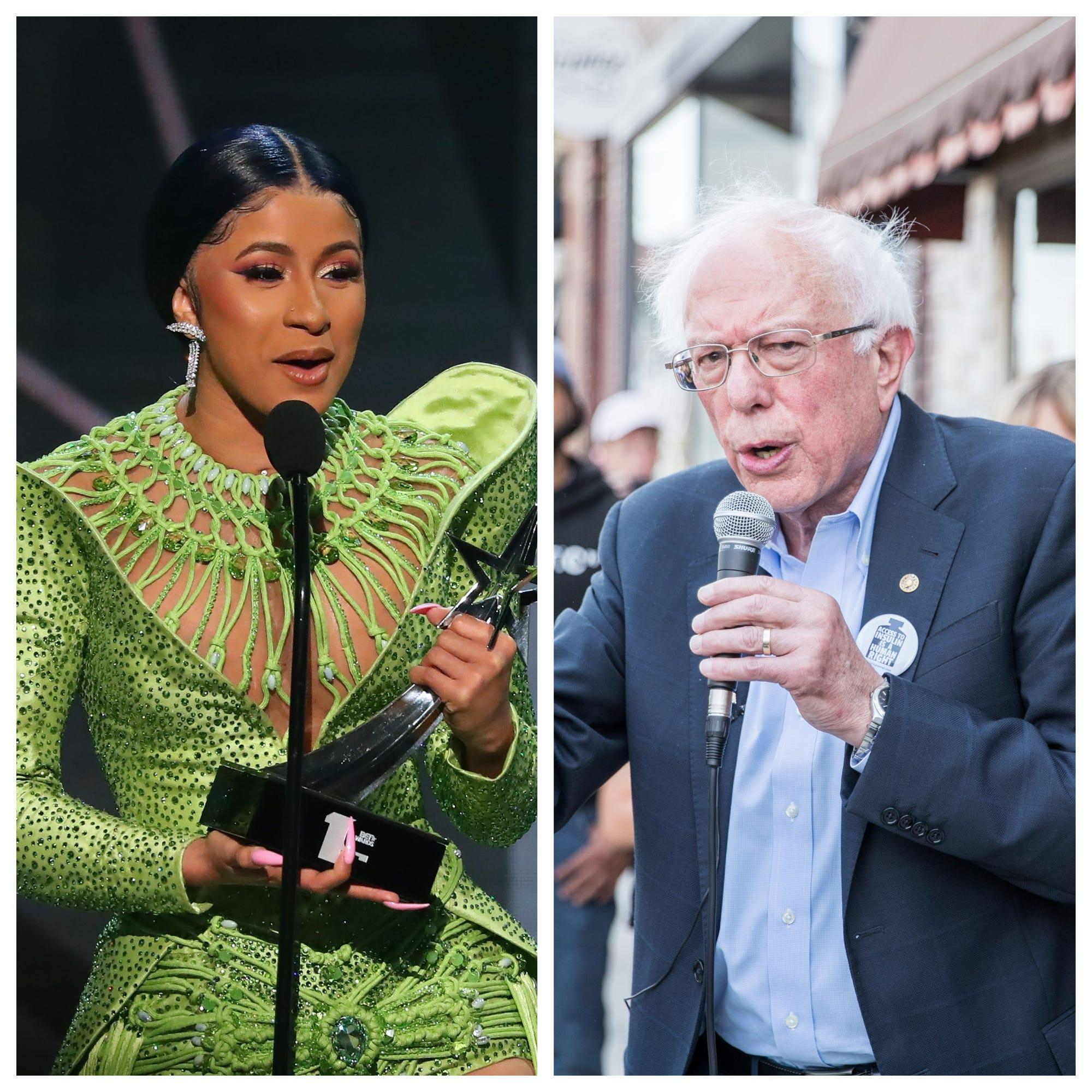 Cardi B to Bernie Sanders: 'What are we going to do about wages in America?'