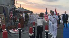 US warship docks in Lebanon amid regional tensions