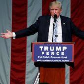 Donald Trump goes on the attack against the media, not Clinton
