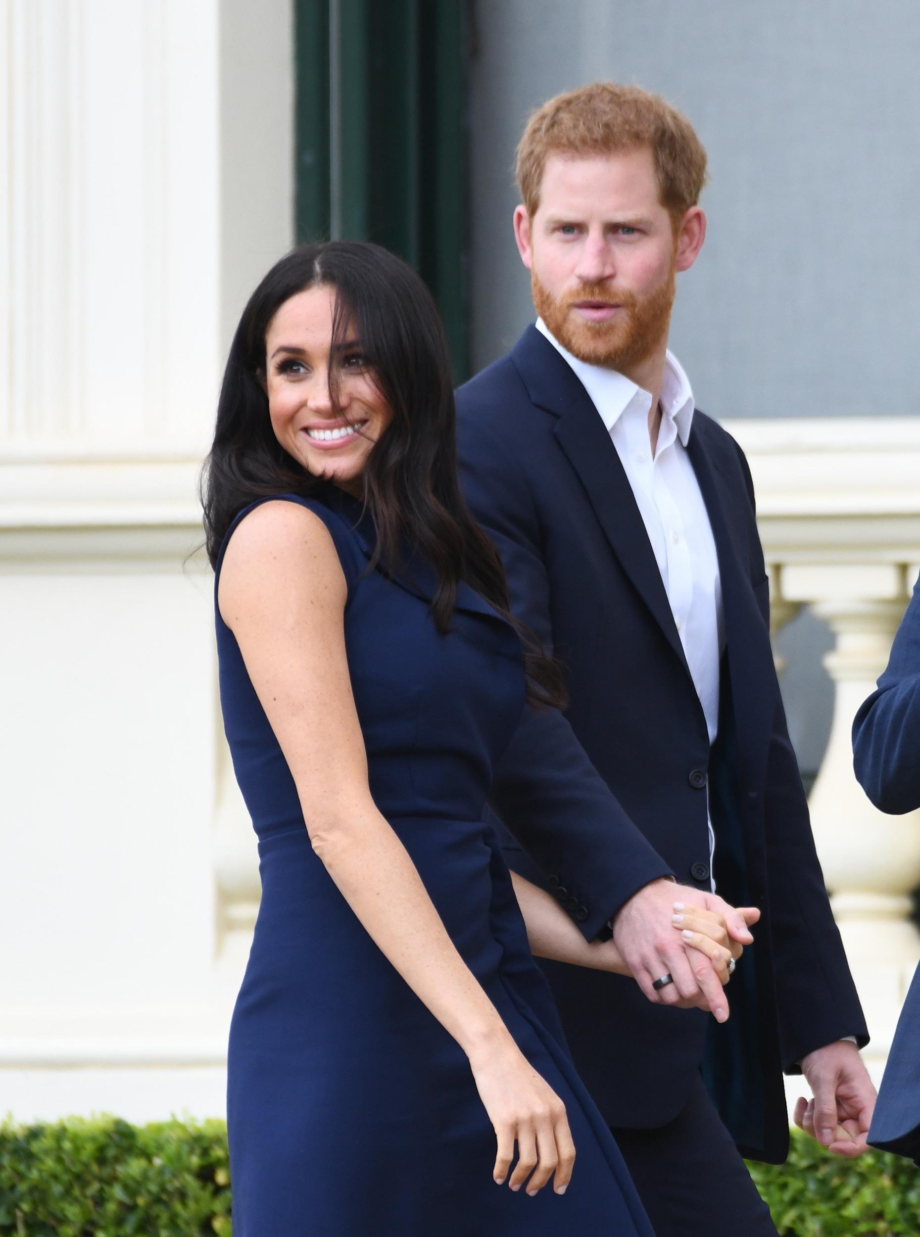 Meghan Duchess of Sussex attends a reception hosted by the Prime Minister at the Auckland War Memorial Museum, on day three of the royal couple's tour of New Zealand. Photo credit should read: Doug Peters/EMPICS