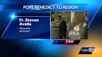 Local priest reacts to papal resignation