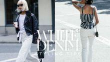 夏天就該捨棄黑色與深藍!時尚達人示範白色牛仔單品的最佳穿搭!