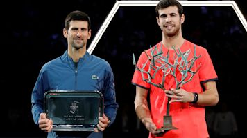 Khachanov stuns Djokovic to win Paris Masters