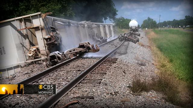 Potentially deadly chemicals on-board derailed train forces La. evacuations