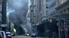 New York explosion: Huge plume of smoke billows into Manhattan sky and buildings evacuated after steam pipe blast