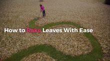 The easiest way to rake leaves