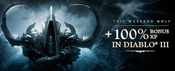 Diablo 3 offering 100% XP boost this weekend only