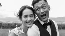 Shawn Yue shows off ring after surprise wedding to Sarah Wang